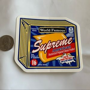 Supreme Cheese 🧀 sticker FW19